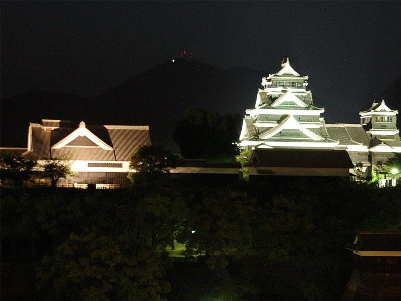 熊本城ー夜景