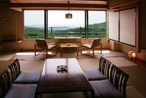 【禁煙】5階以上和室10畳 朝食夕食部屋食指定バス・トイレ付