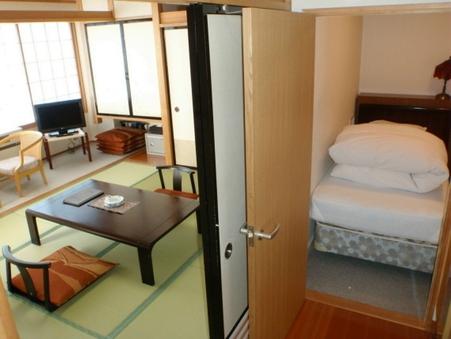 【禁煙】5階以上和室8畳ツインベッド朝夕食部屋食バス・トイレ