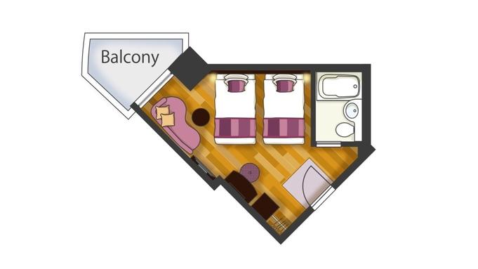 【駅前・バルコニー付】【お部屋のアップグレード確約】<1名>広めのお部屋でくつろぎステイ<素泊り>
