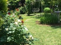 庭の奥にはブランコも(飾り用です)