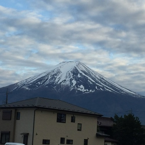 間近で見た富士