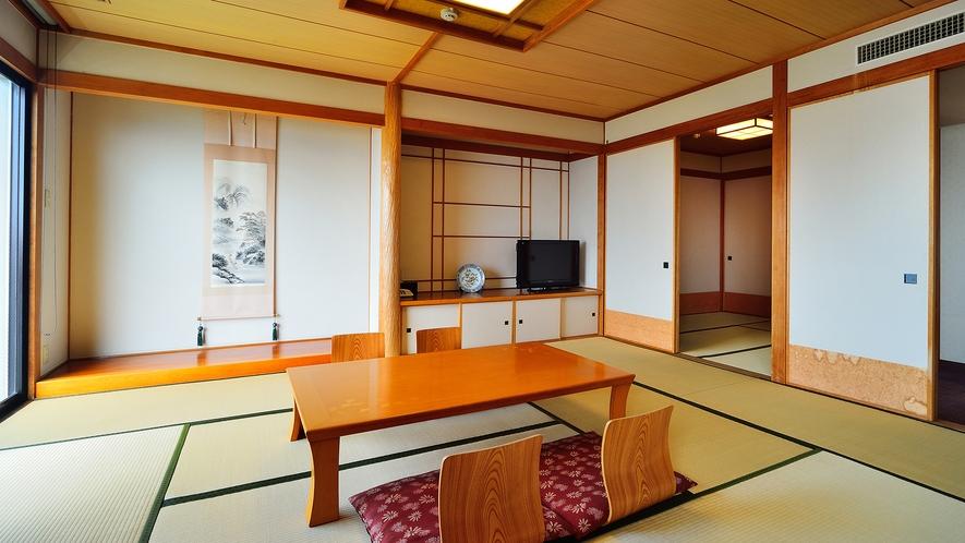 【曙館DX和洋室】最大9名様、3世代でのご宿泊にもお薦めのお部屋です。