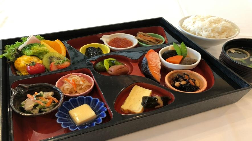 北海道産米を食べる和定食の一例