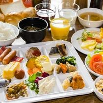 和洋朝食バイキング盛り付け一例