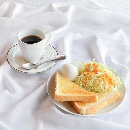 【朝食】トーストとたまごのモーニングセット♪忙しい朝にぴったり!