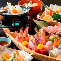 【夕食】 舟盛付会席