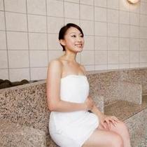 【源泉大浴場】 女性大浴場「百百の湯」ヒーリングサウナ