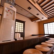 *湯上り処/湯上りの休憩に水分補給にご利用下さい。