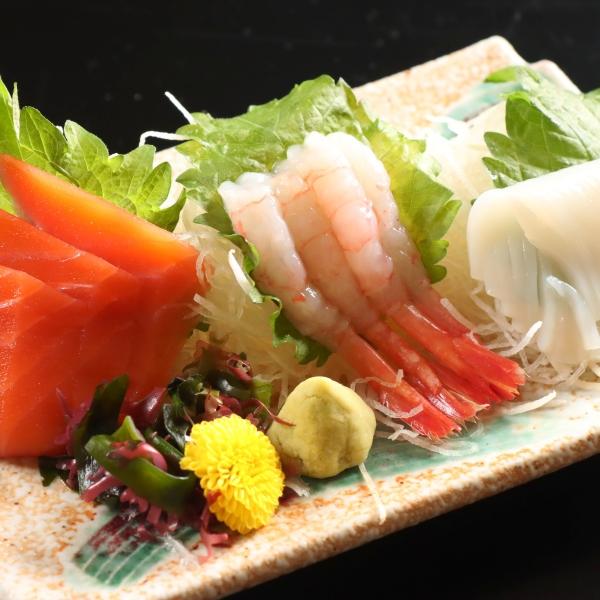 夕食 〜お刺身三点盛り〜