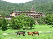 馬と本館(2013/6/19更新)