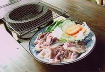 地鶏炭火焼定食(夕食)
