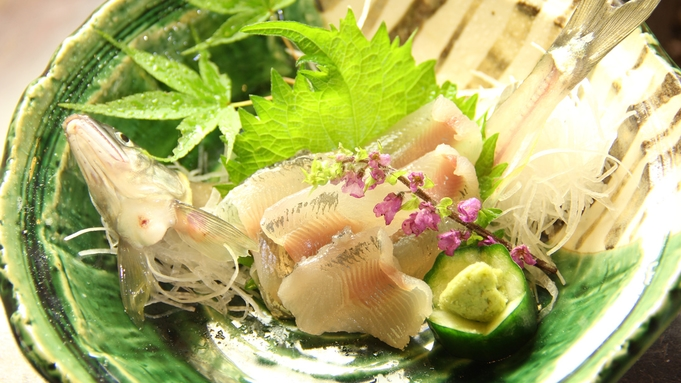 ≪スタンダード≫囲炉裏で食す【一番人気・鮎】料理会席プラン・・・清流 揖斐川で育つ鮎を堪能あれ♪
