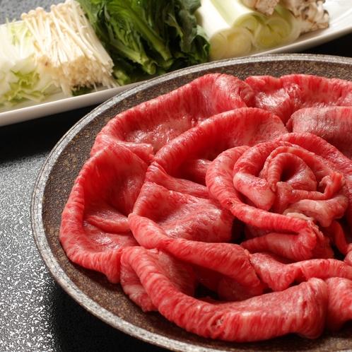 別注料理 仙台牛のすき焼き
