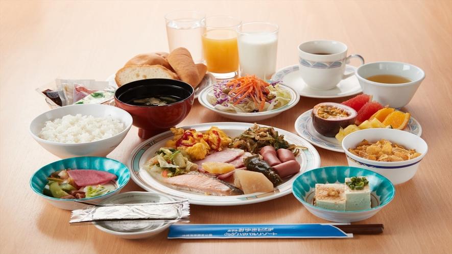ご朝食一例/種類豊富なメニュー!和洋食もどちらもお楽しみいただけます