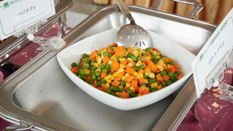 夕食一例/色鮮やかなミックスベジタブル