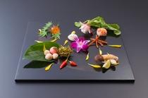 旬の地野菜を使った彩り鮮やかな先付 秋 2016
