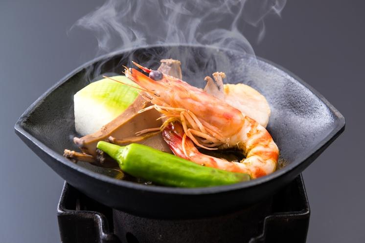 海鮮鉄板焼き肝ソース掛け 夏 2016