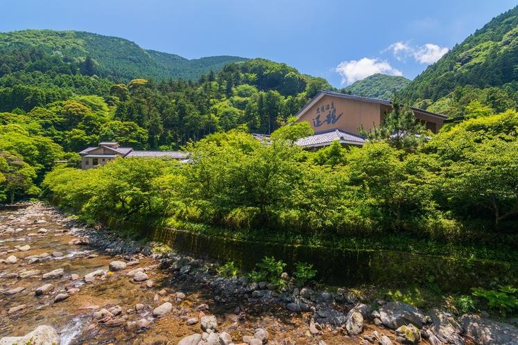 渓流沿い 運龍 外観 夏 2016