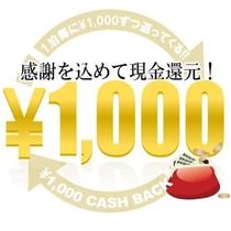 【1000円キャッシュバックプラン】