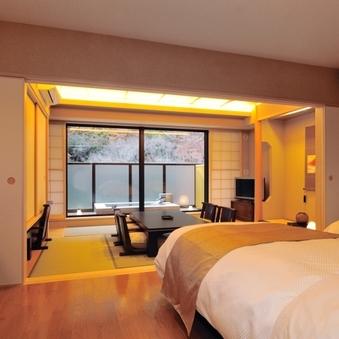 露天風呂付き和洋室 44平米(禁煙/和室6畳+洋室ツイン)