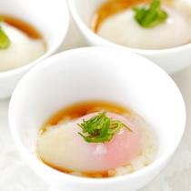 【朝食ブッフェ】朝ごはんの定番「温泉たまご」
