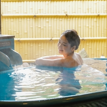 貸切露天風呂でゆっくり過ごす休日