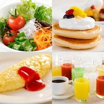 【朝食ブッフェ】洋食から和食まで幅広いメニューをご用意しております。