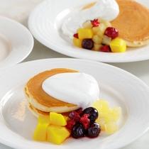 【朝食ブッフェ】女性にもお子様にも人気のパンケーキ☆