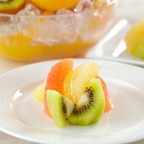 【朝食ブッフェ】キウイフルーツ・ピンクグレープフルーツ・グレープフルーツなど
