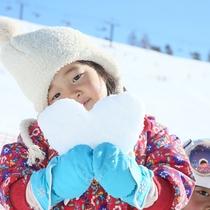 *ゲレンデで雪遊び♪