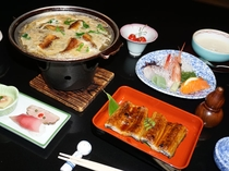うなぎの蒲焼とうなぎの柳川鍋