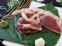 鴨肉のお刺身(オプション料理)