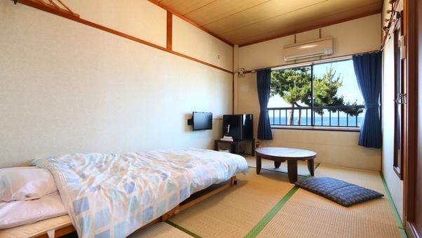 【レイクビュー・トイレ付】和室6畳シングルベッド付