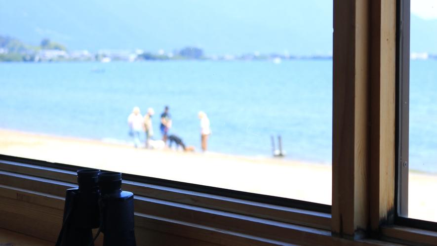 ◇目の前に広がるびわ湖を眺めながらお過ごしください
