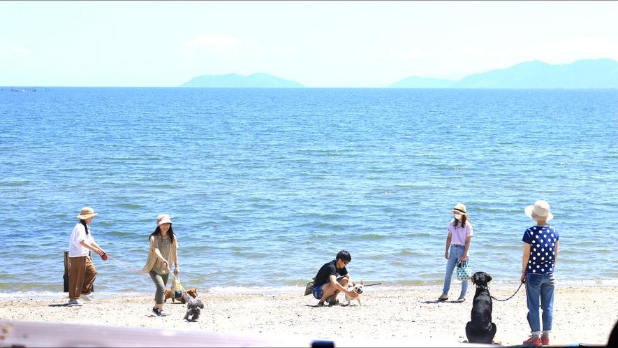 ◇目の前のまの浜でのびのびと遊ぼう♪