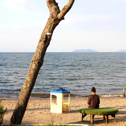 ★びわ湖の波を眺め殻ゆっくりとお過ごしください
