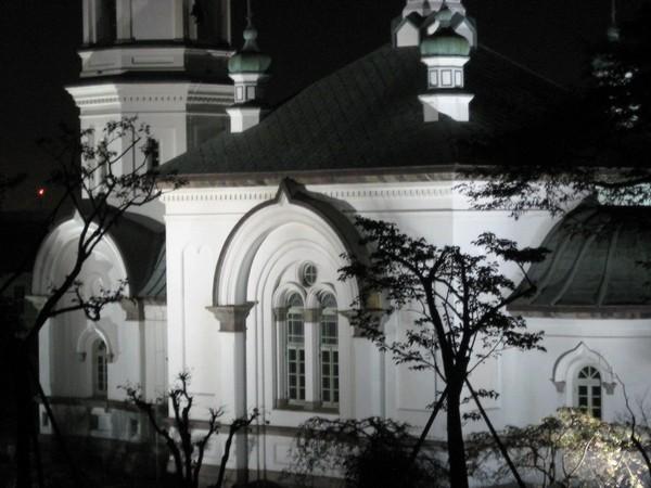 ライトアップのハリストス正教会