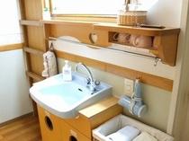 各お部屋に洗面台が付いています。