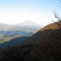 梅ヶ島からの富士山
