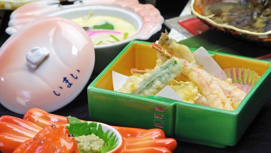 *蟹の天ぷら