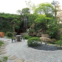 レストランの中庭