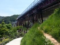 あまるべ鉄橋 空の駅と新橋梁