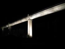余部新橋梁開通イベントでのライトアップ