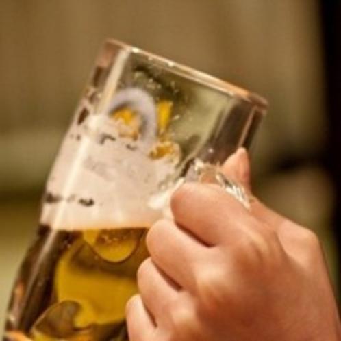 夏に美味しいビール。館内レストランでどうぞ。