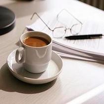 朝のコーヒーは落ち着きます。