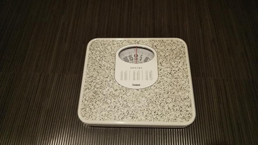 脱衣室内には体重計を設置しております。