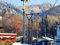 冬の朝景色