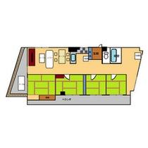 *高層階和室4間キッチン付