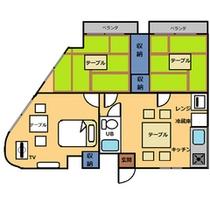 *和洋室50平米・キッチン付き間取りnew